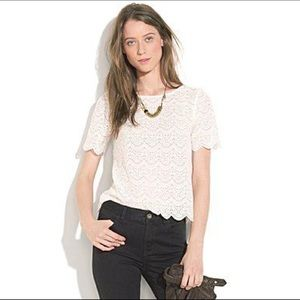 Madewell's Broadway & Broome Scalloped Lace Top